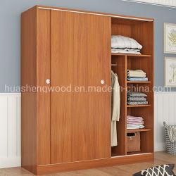 فندق أثاث لازم لوح [16مّ] ميلامين خشب مضغوط خزانة ثوب مع لون خشبيّة