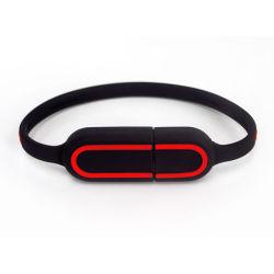 изготовленный на заказ<br/> высококачественных специальных флэш-накопитель USB, силиконовый браслет USB, моды силиконовый браслет диска USB