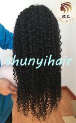 Большой запас быстрой доставки 9сорт глубокую фигурные Glueless парики 26дюйма 180% плотность швейцарских кружева бразильского прав вьющихся волос в полной мере кружева парики