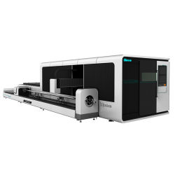 高精度1500W 8000W CNC金属板の閉鎖交換プラットホームのファイバーレーザーの打抜き機