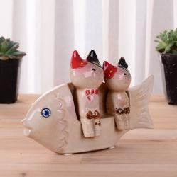 Керамическая Фигурка рыбы дома оформление