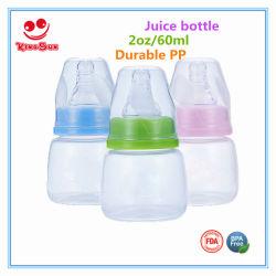 bottiglia di alimentazione infantile del bambino 60ml con il capezzolo della bottiglia della spremuta