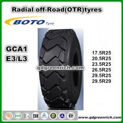 Китай Boto шин марки шин напрямик радиальных шин OTR шины 17,5 R25 и 20.5R25 и толщине всего 23,5 R25 и 26.5R25 29,5 R29 E3/L3 Гка1 высокого качества Earthmove погрузчика OTR шины
