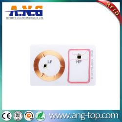 +13.56125kHz MHz de frecuencia doble transparente claro tarjeta RFID