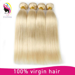Brasilianisches Menschenhaar, das gerades Haar #Blonde #613 spinnt