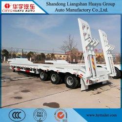 مقطورة شبه عامة للخدمة الشاقة 2/3/4 المحور Lowboy/Lowboy/Lowloader شاحنة للحفارات الماكينات النقل