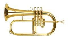 Um bom instrumento de latão Flugel OEM da Buzina