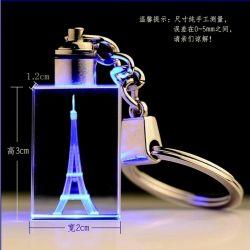 선물 (KS61100)를 위한 LED 가벼운 도매 수정같은 유리 Keychain