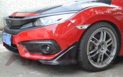 前部Honda Civic X 2016およびリヤバンパーのためにふたに角を付ける