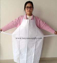 PVC bianco che cucina il grembiule della cucina con i legami della saldatura