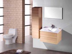 La cuenca de cerámica MDF Cuarto de baño con espejo y armario lateral