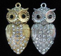 Оптовая торговля подарки бесплатно мало Owlet ювелирных изделий с логотипом USB 8g