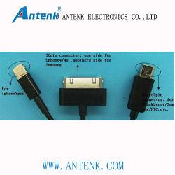 cabo de dados USB multifunções para iPhone, Samsung, HTC, Blackberry