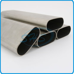 Нержавеющая сталь Сталь большие по размеру плоские односторонние овальной трубки