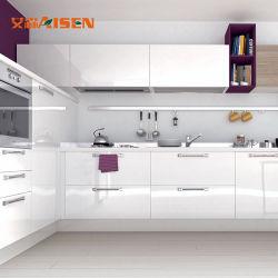 Fábrica de China Nuevo estilo de Hardware de Blum Laca modernos accesorios de cocina gabinetes de cocina en stock