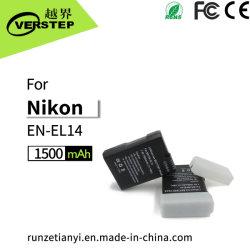 Nikon元のEnEL14 Enel14A D3500 D5300 D5600 P7000のための1500mAhデジタルカメラ電池