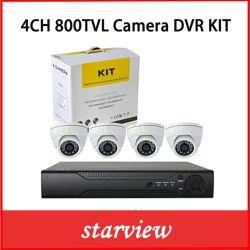 """Kits de DVR 4 CANAIS vigilância +800tvl 1/3"""" CMOS CÂMARAS CCTV Dome para Interior"""