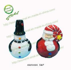 POT di pepe e del sale, agitatori del pepe del sale della Santa di Natale