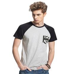 高品質は明白なブランクTシャツの人のティーをカスタマイズする
