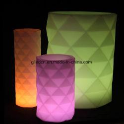 POT di fiore di plastica cambiante multicolore del giardino del LED per la mobilia esterna del LED