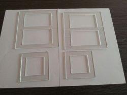 Taille personnalisée en verre trempé le cache du contacteur/la plaque de couvercle de l'interrupteur mural