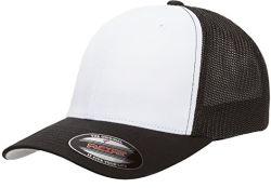 Groothandel Customize Baseball Hat heren Two-Tone Stretch Mesh Trucker Cap