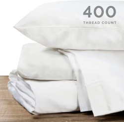 Sábanas de algodón 100% puro blanco 400TC Hilos De alta