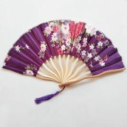 [나는 팬이다] 중국 일본 빈 새겨진 손 팬을 접히는 손 팬을 인쇄하는 폴딩에 의하여 회전되는 실크 꽃