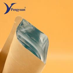 El papel de estraza metálico de aluminio laminado de plástico bolsas Ziplock Stand Bag bolsa de embalaje de alimentos