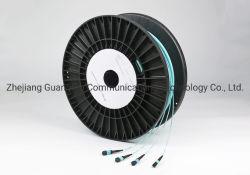 Aus optischen Fasern 48 Kabel-Kabel des Kern-10g Om3 MTP/MPO angepasst mit Umhüllung des Aqua-LSZH