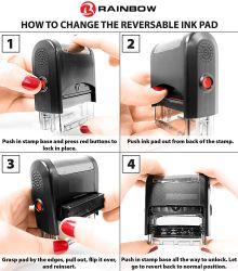 Un2359 Self-Inking timbres avec tampon réversible (bureau fournisseur/injection de plastique/imprimante/La papeterie/don/joint)