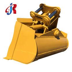 Graafmachine hydraulische kantelinrichting voor kantelen van de rotor met rotokanteling afkoppelen van de machine reinigen van de machine draaiende kanteling Kantel de bak