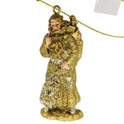 De in het groot OEM Kleine Uitstekende Ambacht van Polyresin van het Ornament van de Kerstman van de Hars van Kerstmis voor Gift