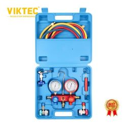 O conjunto de medidores do coletor de aparelho A/C Kit de Ferramenta R22 R134R410um conjunto de serviço automático de latão de Refrigeração