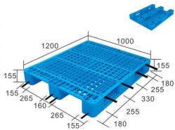 交通機関のためのHDPEの格子表面のプラスチックパレット