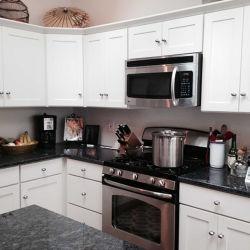 De modulaire Moderne Stevige Houten Witte Deuren van de Keukenkast van de Schudbeker Cabinerty