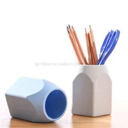 Custom Eco-Friendly Silicone Papelaria Turismo Organizador Recipiente canetas porta-canetas Secretária de Borracha