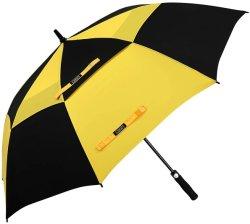 Paraguas de Golf construido para durar 54/62/68 pulgadas de tamaño extra grande abierto automático de doble ventilación Windproof sobredimensionados toldo impermeable Stick sombrillas