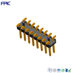 プリント基板のコンポーネントの電子コネクター2.54は単一の列SMDの付属品を投げる