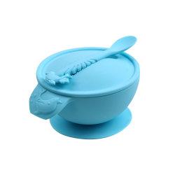 Dîner à bon marché des plaques en silicone de qualité alimentaire de la vaisselle bol anti déversement / bol de nourriture pour bébé