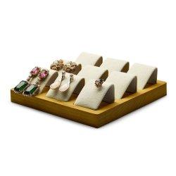 Hölzernes Form-Geschenk-Schmucksache-Bildschirmanzeige-Tellersegment für das Anzeigen der Ringe/der Ohrringe/der Halsketten