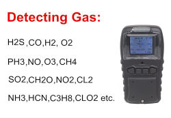 Draagbare 4-in-1 multigasdetector H2S Co O2 Gasdetectie