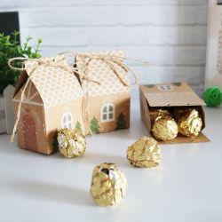 Haus-geformtes Süßigkeit-Geschenk-verpackenkasten-frohe Weihnacht-Kasten für Schokolade