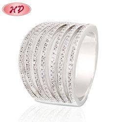 Novo Modelo simples argolas de ouro projeta lindo anel de dedo para meninas