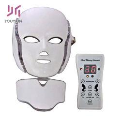 卸売7カラーLED光子ライト療法の首の顔のスキンケア