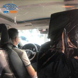 Film van de Isolatie van de Dekking van de Zetel van het Gordijn van de Verdeling van de Auto van de taxi de Transparante in de Plastic Film van de Isolatie van pvc voor de Separator van de Taxi
