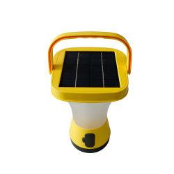 Una lanterna solare d'attaccatura di campeggio esterna da 360 gradi con il carico incorporato del telefono del comitato e l'aiuto di emergenza di SOS