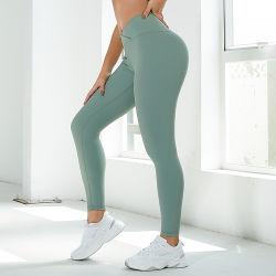 Neu Ankunft Thread Heftung Frauen High Waist Lift Hip Fitness Align Atmungsaktive Vier-Wege-Stretch Gym Legging Yoga Hose