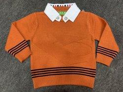 새로운 소년 긴 소매 자라목 스웨터 스웨터 아기 옷