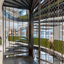 A IDL Novo Projeto Rust-Proof Estrutura de aço para Interior/Exterior Espaço Pequeno Customized escadaria em espiral de metal escadas